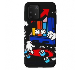 Funda Gel Doble Capa Samsung Galaxy A91/S10 Lite - Skate Up