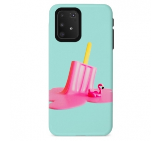 Funda Gel Doble Capa Samsung Galaxy A91/S10 Lite - Helado Flamenco
