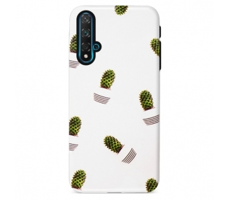 Funda Gel Doble Capa Huawei Nova 5T / Honor 20 - Cactus pequeño
