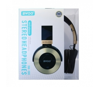 Auricular Cascos Con Bluetooth BWOO BW-380 Dorado