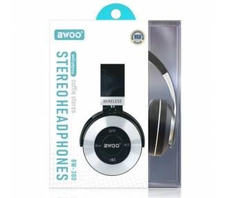 Auricular Cascos Con Bluetooth BWOO BW-380 Negro