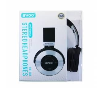 Auricular Cascos Con Bluetooth BWOO BW-380 Plata