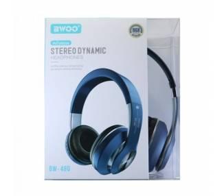 Auricular Cascos Con Bluetooth BWOO BW-480 Azul
