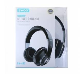 Auricular Cascos Con Bluetooth BWOO BW-480 Negro