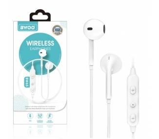 Auricular Cascos Con Micrófono BWOO BW-65 Blanco