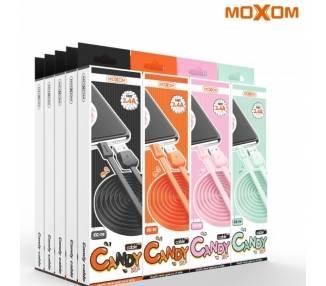 Cable Candy Moxom CC-79 de Carga Rápida 2.4A - Tipo C 4 Colores