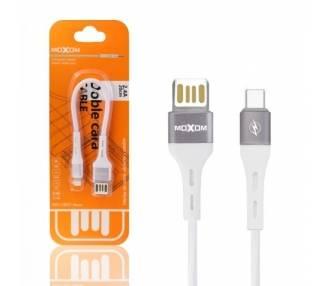 Cable Doble Cara Moxom MX-CB07 de Carga Rápida 2.4A - Tipo C 2 Colores