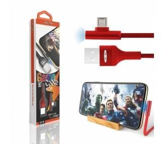 Cable Game Moxom CC-70 con Luz LED 2.4A - Micro USB 2 Colores