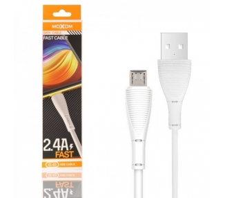 Cable Moxom CC-63 de Carga Rápida 2.4A - Micro USB 2 Colores