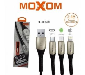 Cable Moxom CC-66 con Luz 2.4A - TipoC