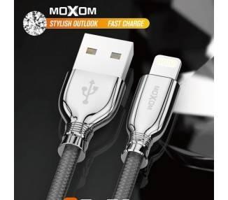 Cable Moxom CC-77 de Carga Rápida 2.4A - Tipo C