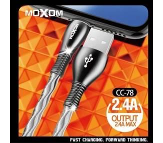 Cable Moxom CC-78 de Carga Rápida 2.4A - Micro USB