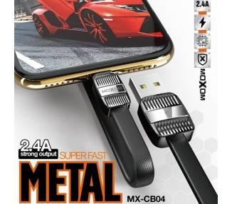 Cable Moxom MX-CB04 de Carga Rápida 2.4A - Micro USB