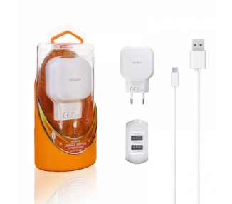 Cargador Red Moxom KH-44 Auto ID 2.4A + Cable Micro USB