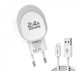 Cargador Red Moxom KH-46 2.4A + Cable MicroUSB