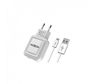 Cargador Red Moxom KH-52 Auto ID 2.4A + Cable MicroUSB