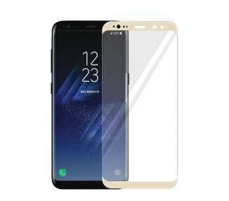 Cristal templado Curvo Samsung Galaxy S8 Plus Protector de Pantalla Dorado