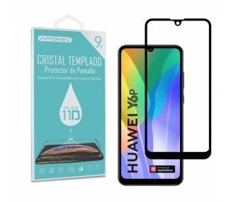 Cristal templado Full Glue 11D Premium Huawei Y6P 2020 Protector de Pantalla Curvo Negro