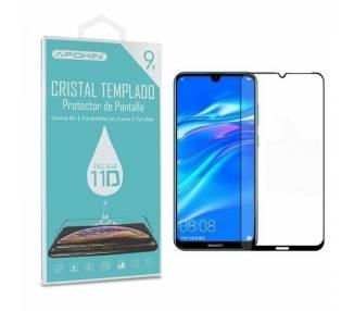 Cristal templado Full Glue 11D Premium Huawei Y7 2019 Protector de Pantalla Curvo Negro