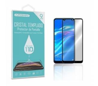 Cristal templado Full Glue 11D Premium Huawei Y7 2019/REDMINOTE 8 Protector de Pantalla Curvo Negro