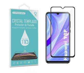 Cristal templado Full Glue 11D Premium Huawei Y8P/P Smart S /Enjoy 10S Protector de Pantalla Curvo Negro
