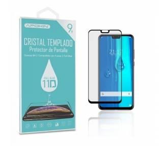 Cristal templado Full Glue 11D Premium Huawei Y9 2019 Protector de Pantalla Curvo Negro