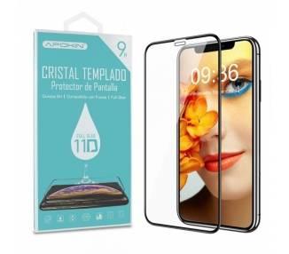 Cristal templado Full Glue 11D Premium iPhone 11 Pro Max (Xs Max) Protector de Pantalla Curvo Negro