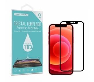 """Cristal templado Full Glue 11D Premium iPhone 12 Mini 5.4 Protector de Pantalla Curvo Negro"""""""