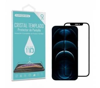 """Cristal templado Full Glue 11D Premium iPhone 12 Pro Max 6.7 Protector de Pantalla Curvo Negro"""""""