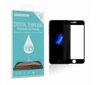 Cristal templado Full Glue 11D Premium iPhone 6/ 7 / 8 Protector de Pantalla Curvo Negro