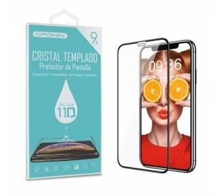 Cristal templado Full Glue 11D Premium iPhone XR / 11 Protector de Pantalla Curvo Negro