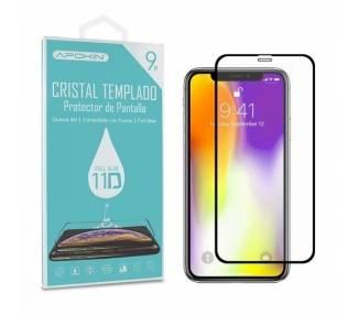 Cristal templado Full Glue 11D Premium iPhone Xs Max Protector de Pantalla Curvo Negro