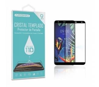 Cristal templado Full Glue 11D Premium LG K40 / K12 Plus Protector de Pantalla Curvo Negro