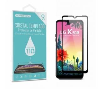 Cristal templado Full Glue 11D Premium LG K50s Protector de Pantalla Curvo Negro