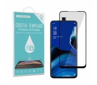 Cristal templado Full Glue 11D Premium Oppo Reno 2 Z Protector de Pantalla Curvo Negro