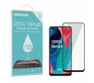 Cristal templado Full Glue 11D Premium Oppo Reno 4 5G Protector de Pantalla Curvo Negro