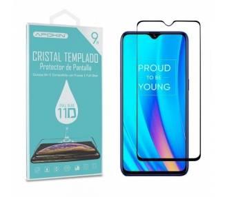 Cristal templado Full Glue 11D Premium Realme 3 Pro Protector de Pantalla Curvo Negro