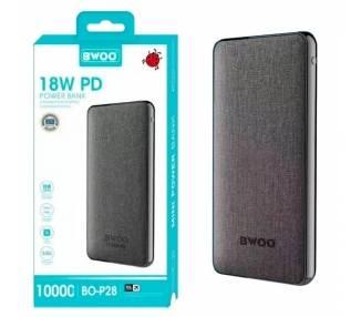 PowerBank Bwoo BO-P28 10000mAh 3.0A Batería Externa + Cable