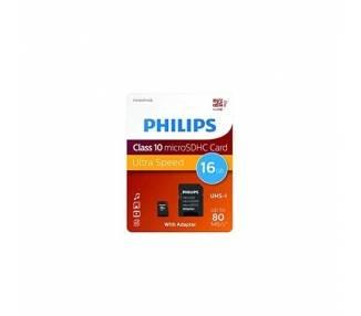 Tarjeta microSD Philips 16gb Class10