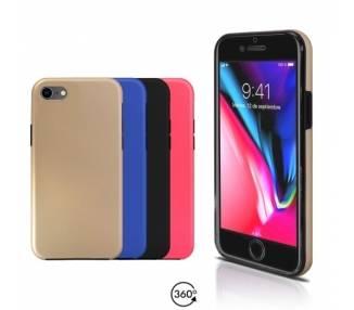 Funda Doble iPhone 8 Silicona Delantera y Trasera 360 - 4 Colores ARREGLATELO - 1