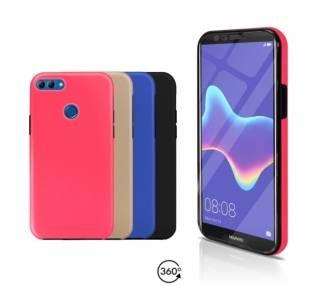 Funda Doble Huawei Y9 2018 Silicona Delantera y Trasera 360 - 4 Colores ARREGLATELO - 1