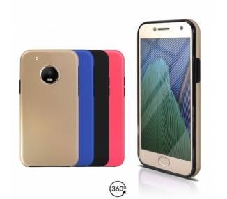 Funda Doble Motorola G5 PLUS Silicona Delantera y Trasera 360 - 4 Colores ARREGLATELO - 1