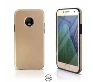 Funda Doble Motorola G5 PLUS Silicona Delantera y Trasera 360 - 4 Colores ARREGLATELO - 2