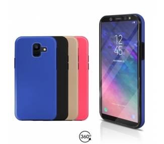 Funda Doble Samsung Galaxy A6 2018 Silicona Delantera y Trasera 360 - 4 Colores ARREGLATELO - 1