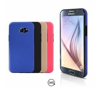 Funda Doble Samsung Galaxy S6 Silicona Delantera y Trasera 360 - 4 Colores ARREGLATELO - 1
