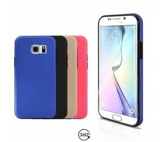 Funda Doble Samsung Galaxy S6 EDGE Silicona Delantera y Trasera 360 - 4 Colores ARREGLATELO - 1