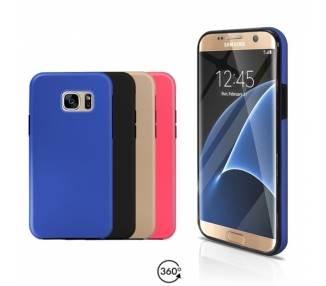 Funda Doble Samsung Galaxy S7 EDGE Silicona Delantera y Trasera 360 - 4 Colores ARREGLATELO - 1