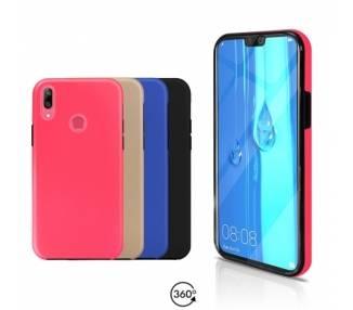 Funda Doble Huawei Y9 2019 Silicona Delantera y Trasera 360 - 4 Colores ARREGLATELO - 1