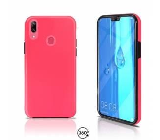 Funda Doble Huawei Y9 2019 Silicona Delantera y Trasera 360 - 4 Colores ARREGLATELO - 2