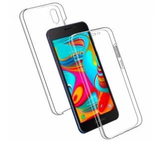 Funda Doble Samsung Galaxy A2 Core Silicona Transparente Delantera y Trasera
